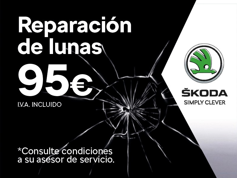 Reparación de lunas 95€ IVA incluido *