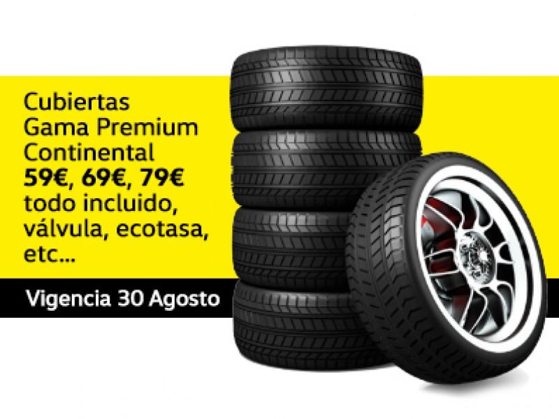 Cubiertas Gama Premium Continental