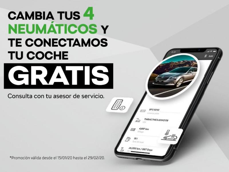 PROMOCIÓN CAMBIA TUS 4 NEUMÁTICOS Y TE CONECTAMOS TU COCHE GRATIS